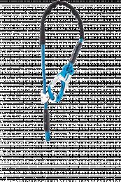 Matériel technique pompiers Longes réglables Equa R - 1 Mousqueton Tango Bleu - 1 boucle cossée